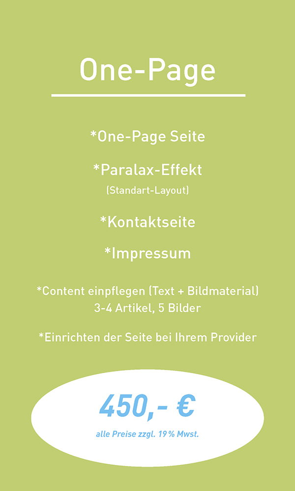 Angebot One-Page